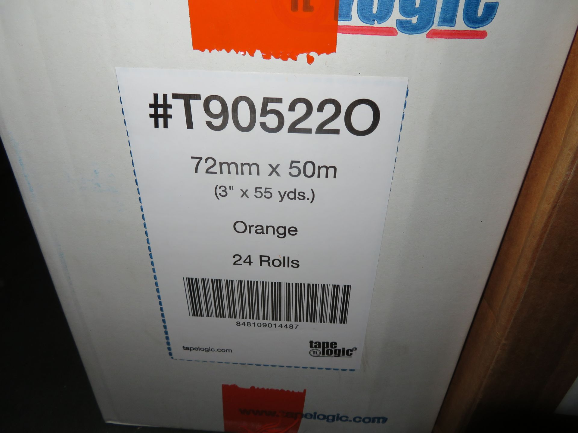 (3) BOXES CLEAR 5 IN POCKET, ORANGE & 4.75 CLEAR CARTON SEALING TAPE - Image 2 of 4