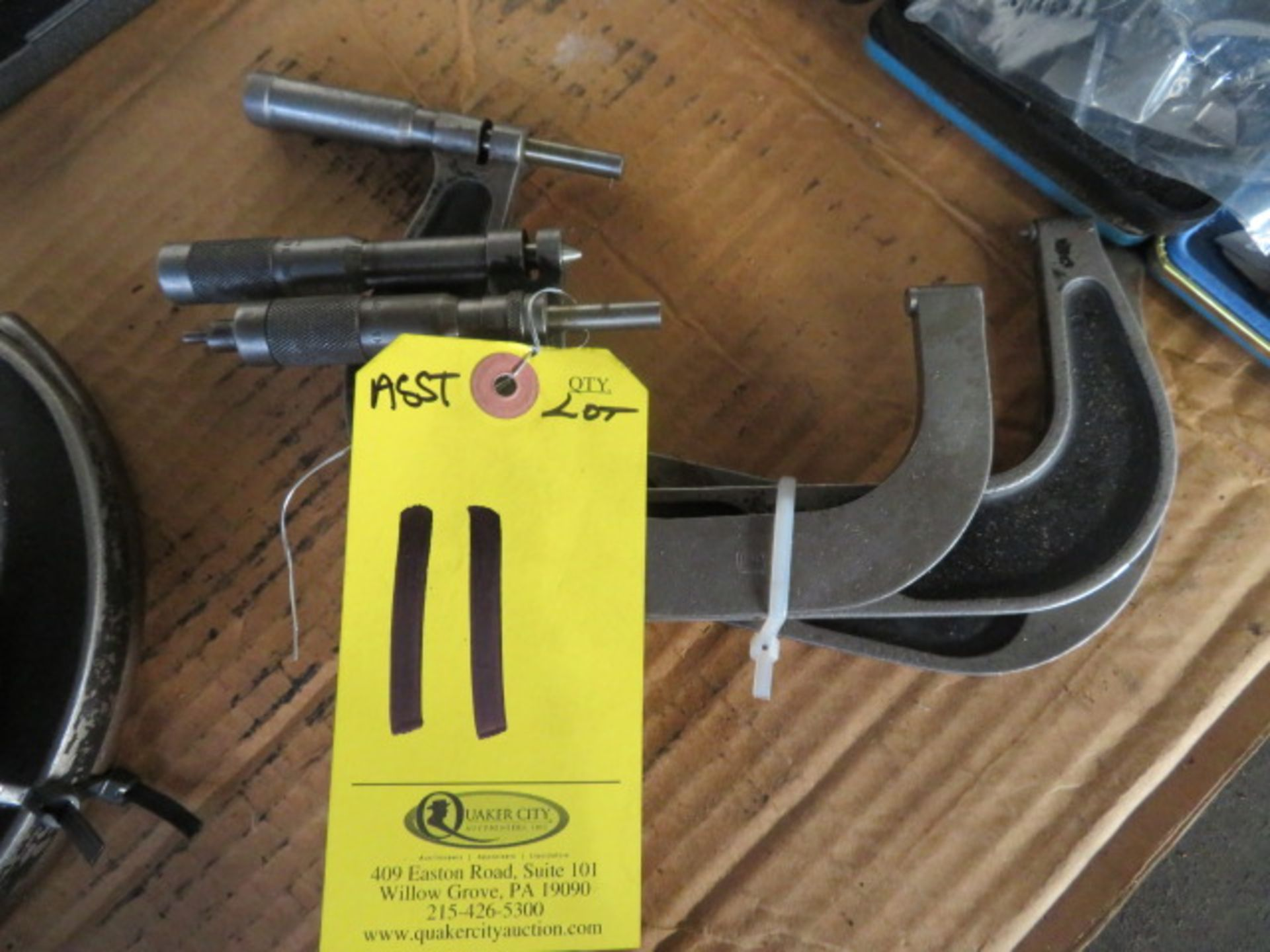 Lot 11 - (3) ASSORTED MICROMETERS