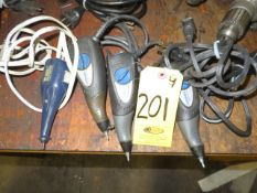 (3) DREMEL AND (1) WEN ELECTRIC ENGRAVERS