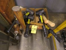 ASSORTED MALLETS, (1) SLEDGE HAMMER AND (1) HAND BENDER