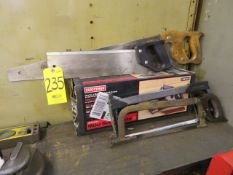 ASSORTED SAWS AND CRAFTSMAN MITRE BOX