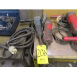 (2) 4-1/2 IN. ELECTRIC GRINDERS