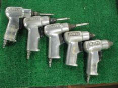 (5) Aro Pistol Grip Pneumatic Drill