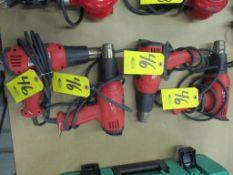(4) Milwaukee 8795-4 Electric Heat Guns