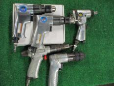 (5) Assorted Pistol Grip Pneumatic Drill