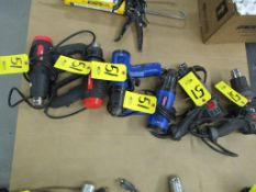 (6) Assorted Electric Heat Guns, Drill Master, Westward & Porter-Cable