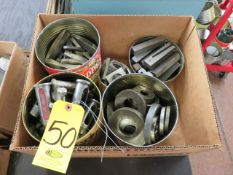 ASSORTED LATHE AND SINGLE TOOL HOLDERS AND ACCESSORIES