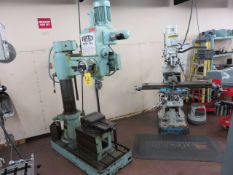FORTECH FMR-915 RADIAL ARM DRILL, S/N 139, SS 285-1500 RPM, IN/METRIC, BORING & TAPPING...
