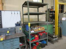 (2) WELDED 8 FT. MULTI-SHELF UNITS