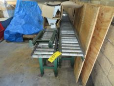 (2) 10 FT X 10 IN ROLLER CONVEYORS W/STANDS