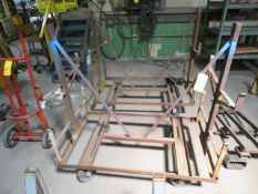 (2) MOBILE STEEL STOCK RACKS