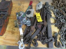 CHAIN BINDERS, SPREADER AND HAND WINCH