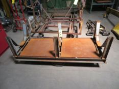 6 FT. MOBILE STEEL STOCK CART