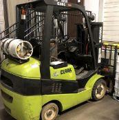 2003 Clark Model C30C Fork lift, 6000 lb capacity, LP, Side Shift, Triple Mast