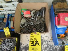 ASSORTED PIPE DIES AND WRENCHES