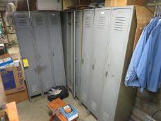 (9) FULL-DOOR LOCKERS