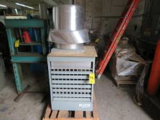 MODINE PROPANE GAS FORCED AIR HEATER AND ROOFTOP EXHAUST FAN