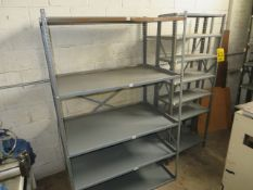 (7) SECTIONS OF ASSORTED STEEL SHELVING