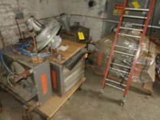 (3) SKIDS OF ASSORTED STEAM AND GAS HEATERS (DOES NOT INCLUDE DUST COLLECTOR SHOWN IN PHOTO)