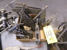 (9) ASSORTED CANT-TWIST CLAMPS
