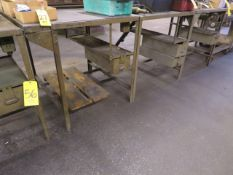 (7) 30 IN. METAL STANDS W/SINGLE DRAWERS