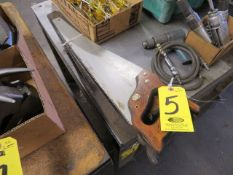 (5) ASSORTED HAND SAWS