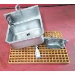 Sink and Water Fountain