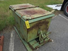 1/4 Yd, 2000Lb Capacity Self Tipping Dumpster