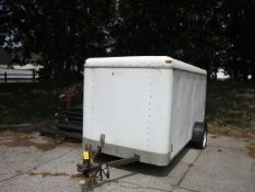 Pace American Worksport 6 x 12 Enclosed Trailer Model WS612SHD VIN 40LFB1210YP063130, with Ramp BOS.
