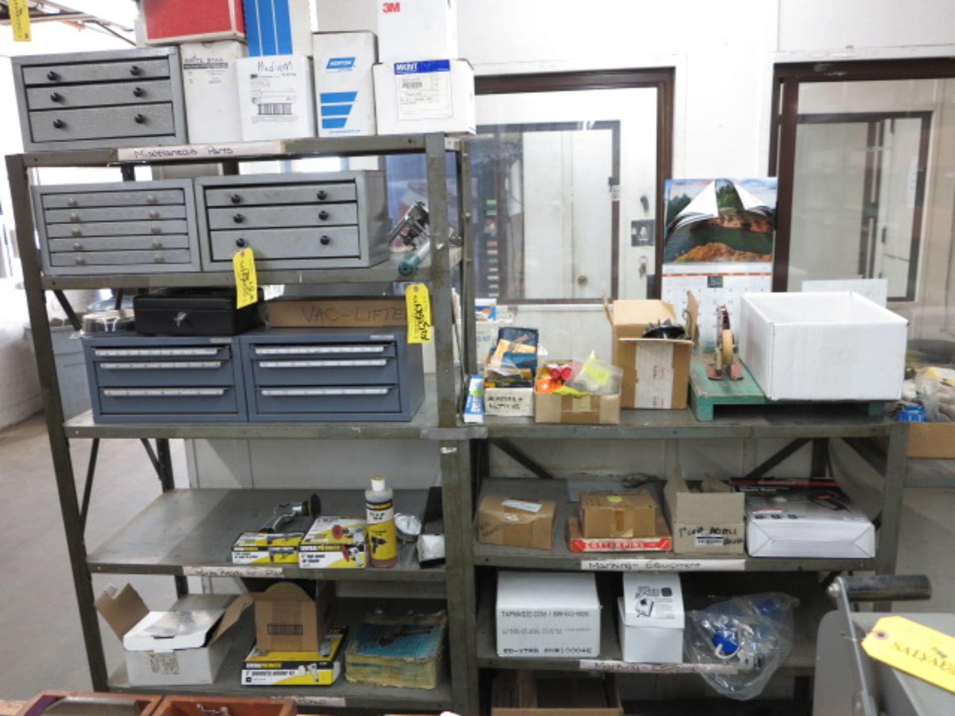 Lot 305C - Rack & Contents except Drill Indexes Location 900 Wellington Cranston RI