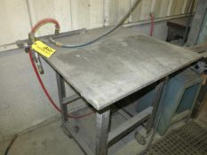 3' x 3' Steel Work Table with Air Location: Elmco Tool 3 Peter Rd Bristol, RI