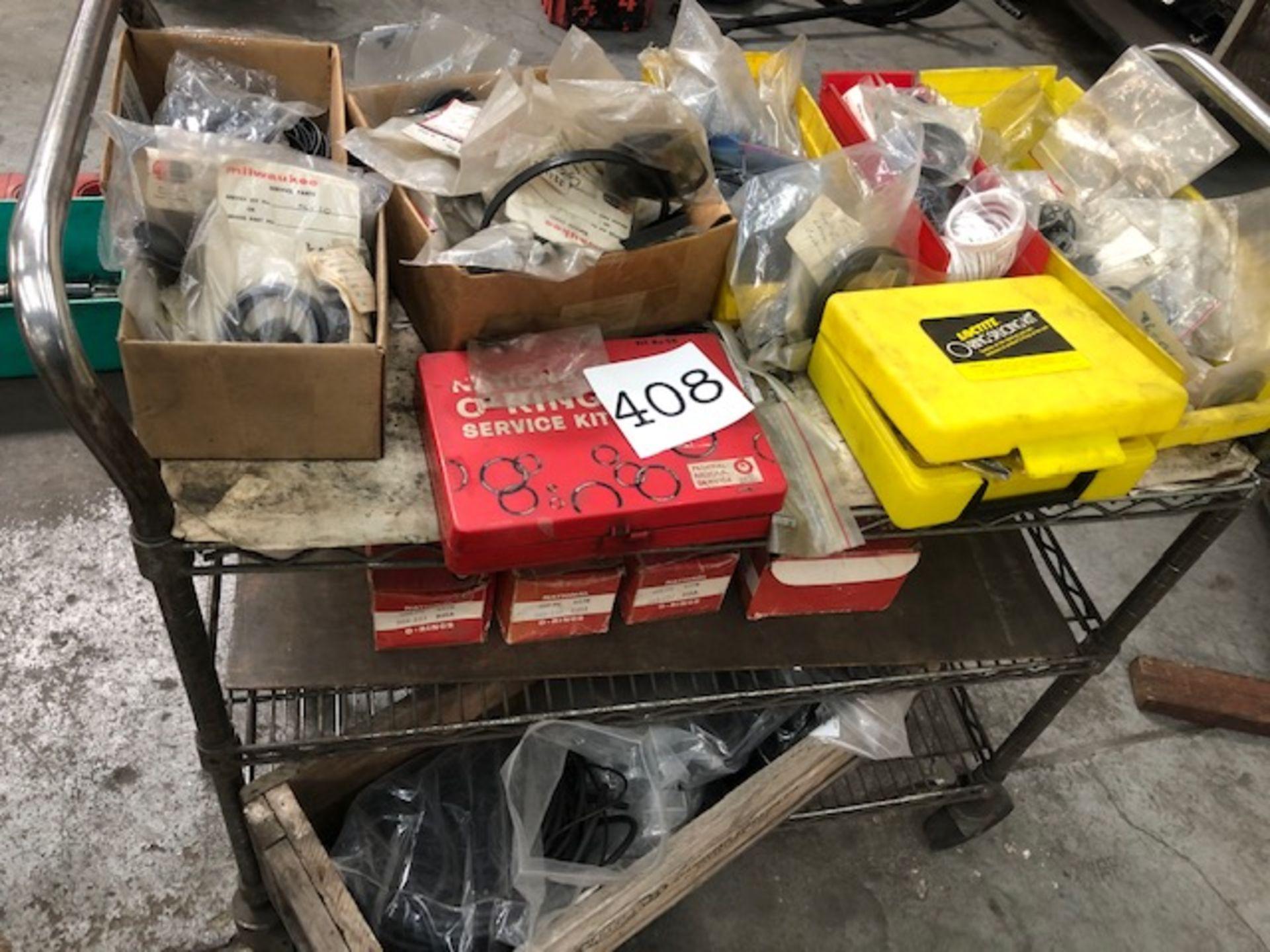 Lot 408 - Miscellaneous O-Rings w/ Cart