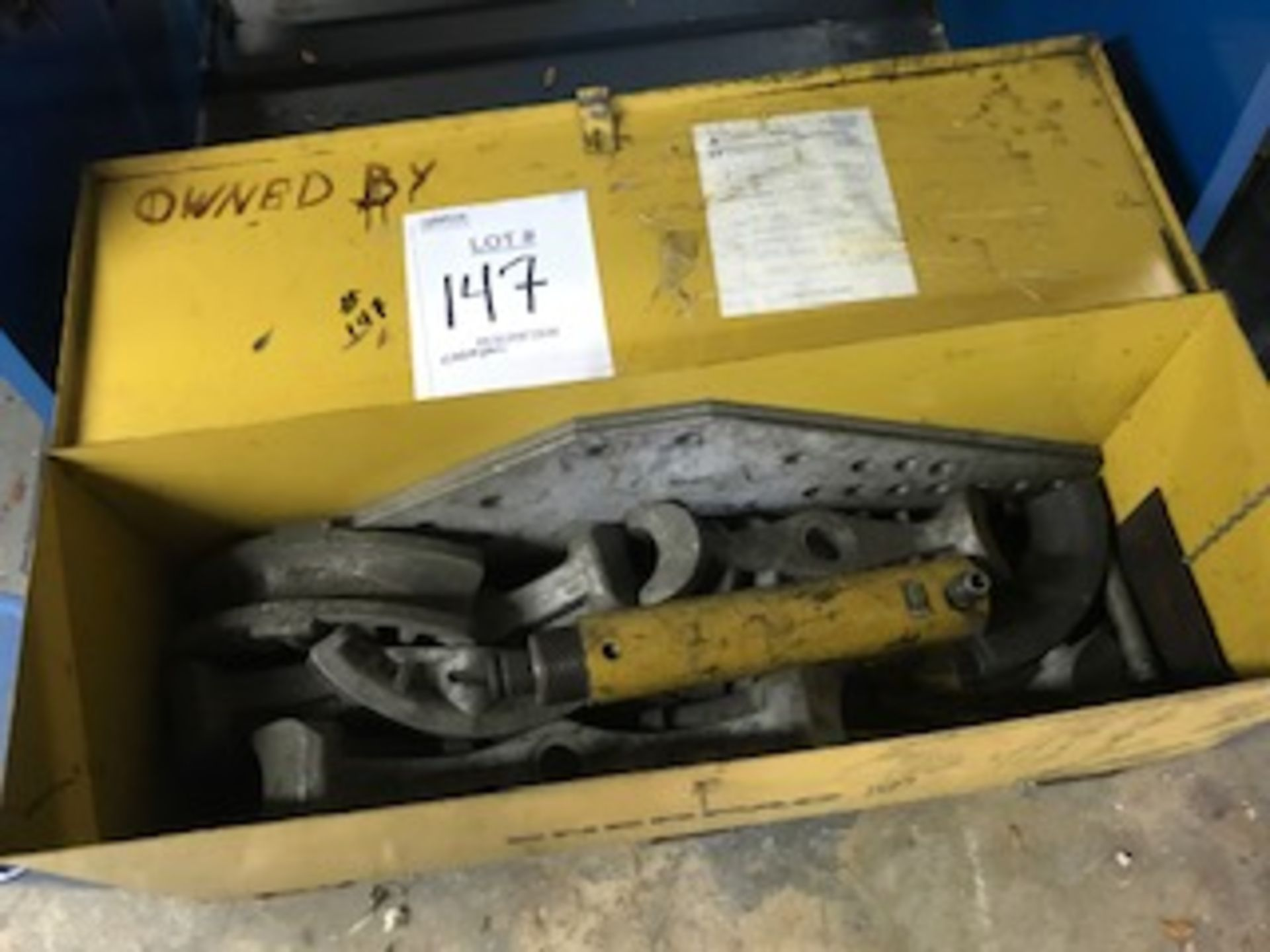 Lot 147 - ENERPAC PIPE BENDER WITH ACCESSORIES