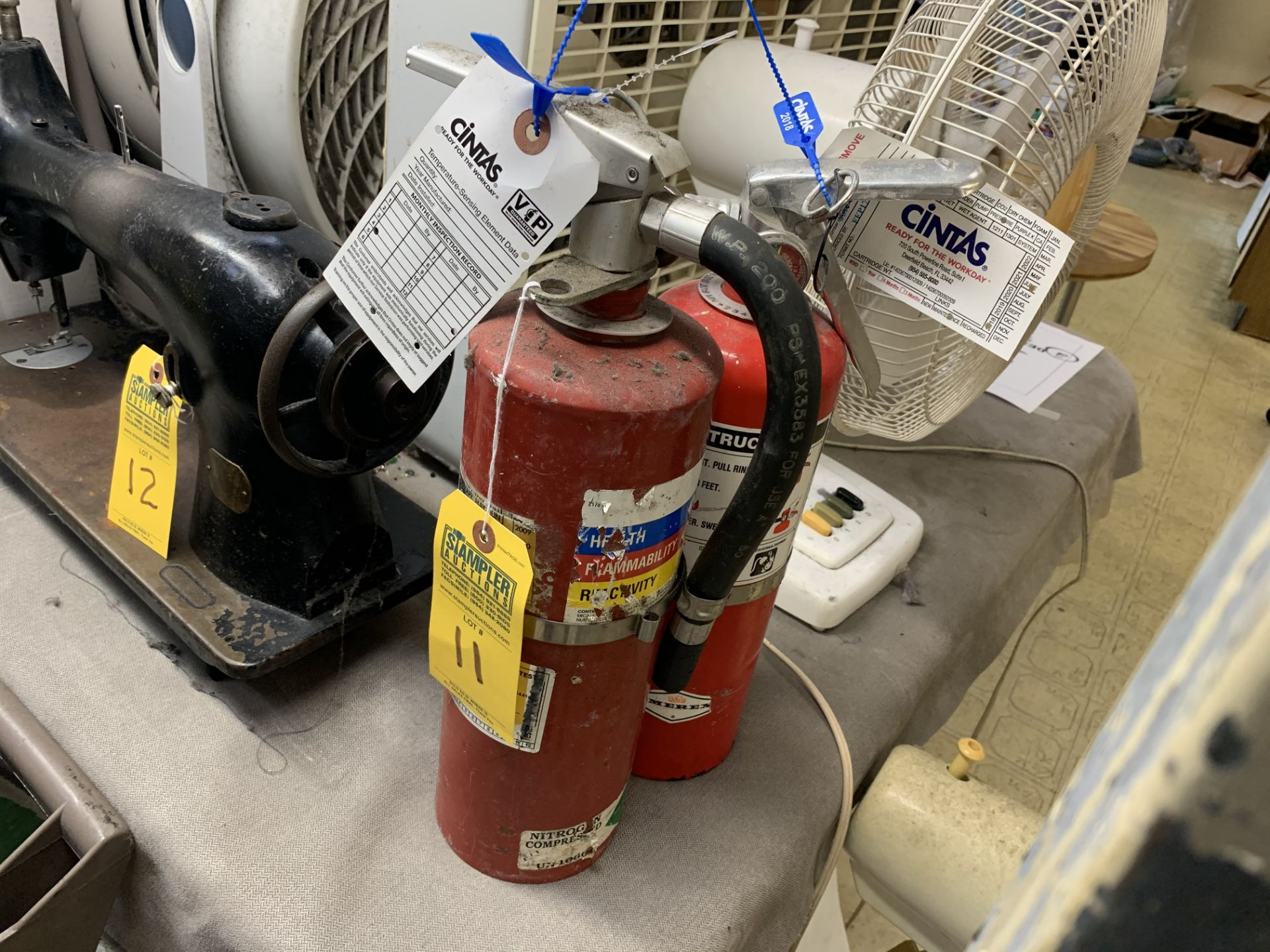 Lot 11 - FIRE EXTINGUISHERS