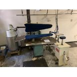 UNIPRESS PRESS-DCF446-C WORK STATION MODEL 43 HOT HEAD WITH KYOTO IRON & COLLECTOR