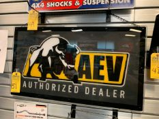 AEV LIGHTED SIGN