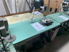 JUKI MO-2500 SERIES 2512 CLASS DD6-500 SEWING MACHINE WITH MOTOR, STAND & LIGHT