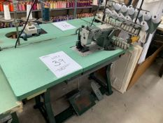 KANSAI SPECIAL 12 NEEDLE SEWING MACHINE WITH MOTOR & STAND