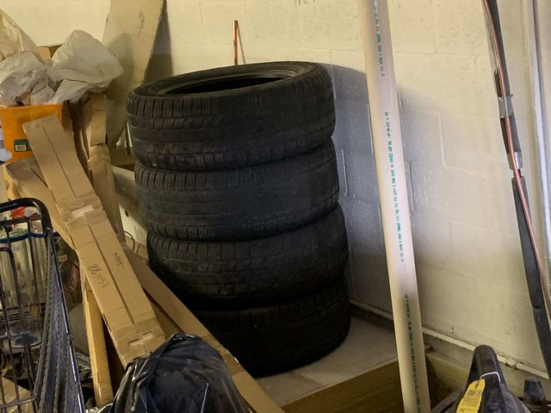 Lot 218 - ASSORTED TIRES (ON LOFT)