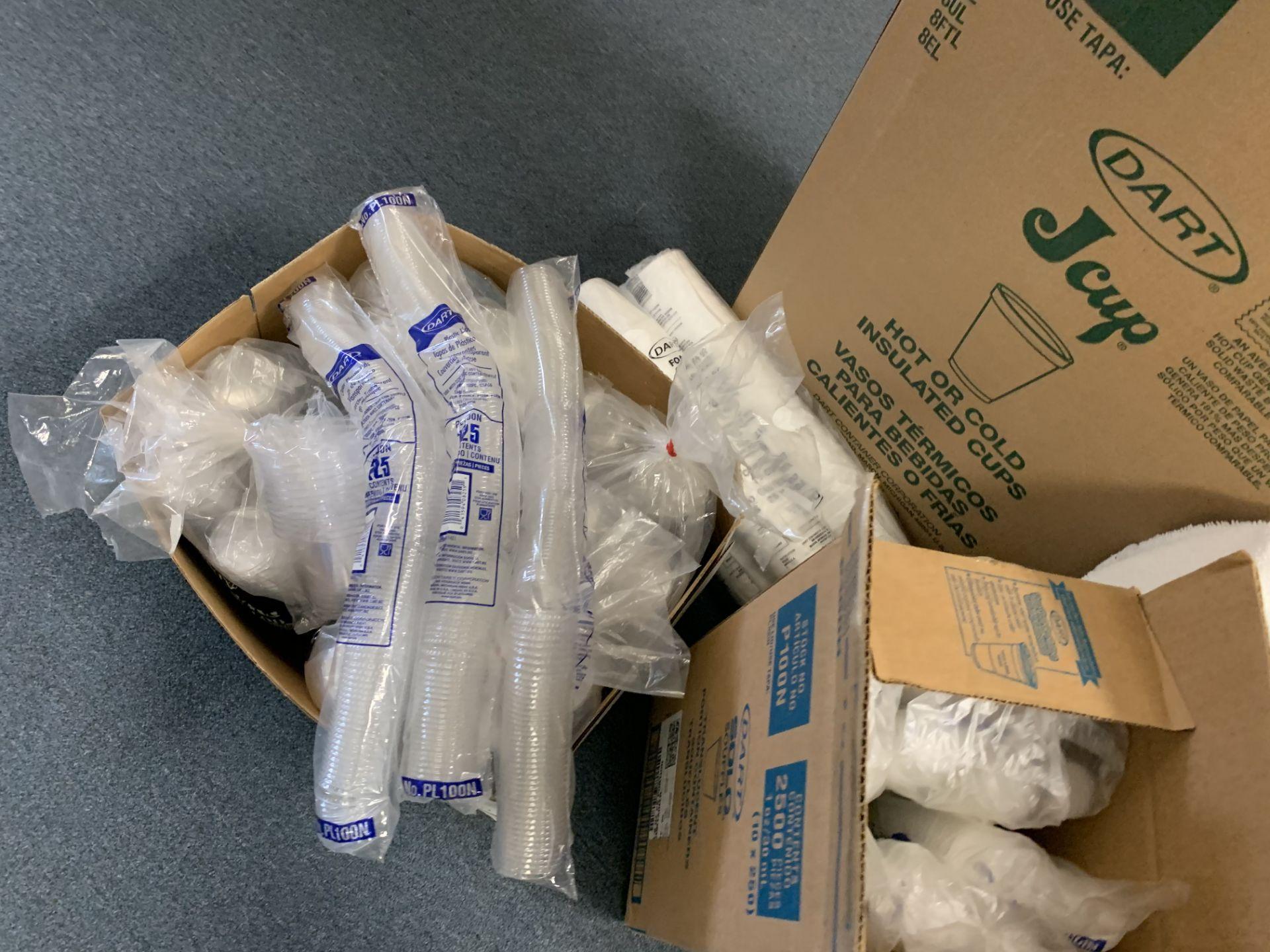 Lot 354 - LOT ASSORTED PLASTIC, STYROFOAM, CUPS, ETC
