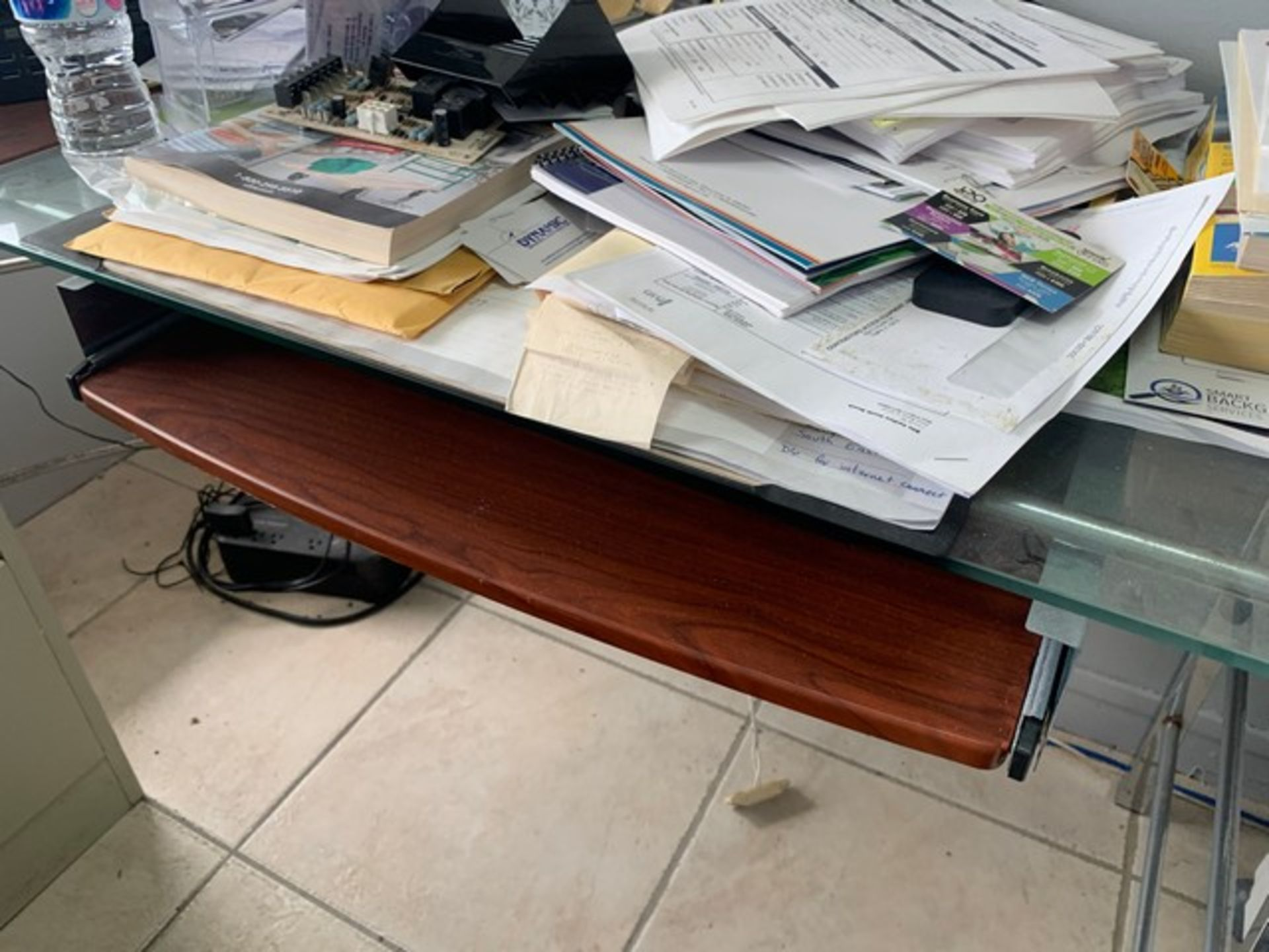 Lot 241 - DESK WITH FILE CABINET