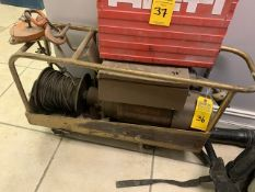 1 TON ELECTRIC EQUIPMENT HOIST WITH IBEAM TRACK