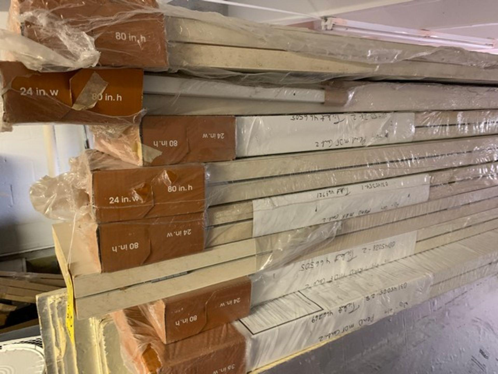 Lot 210 - NEW BIFOLD DOORS - 7- 24''x80'' / 1- 36''x80'' (ON LOFT)
