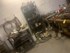 LOT HOSES, HAND TOOLS, ETC (NO RACKS / NO TABLES)