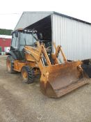 2005 Case Tractor Loader Model 570MXT, S/N JJG0302374 (3023 Hrs.), w/ Weights, 4WD, 4-1 Bucket,