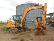 "2012 Case Model CX80 Excavator W/ Blade (2777 Hrs.), S/N NCSLB7346, 42"" Bucket, Blade, Has Dents,"