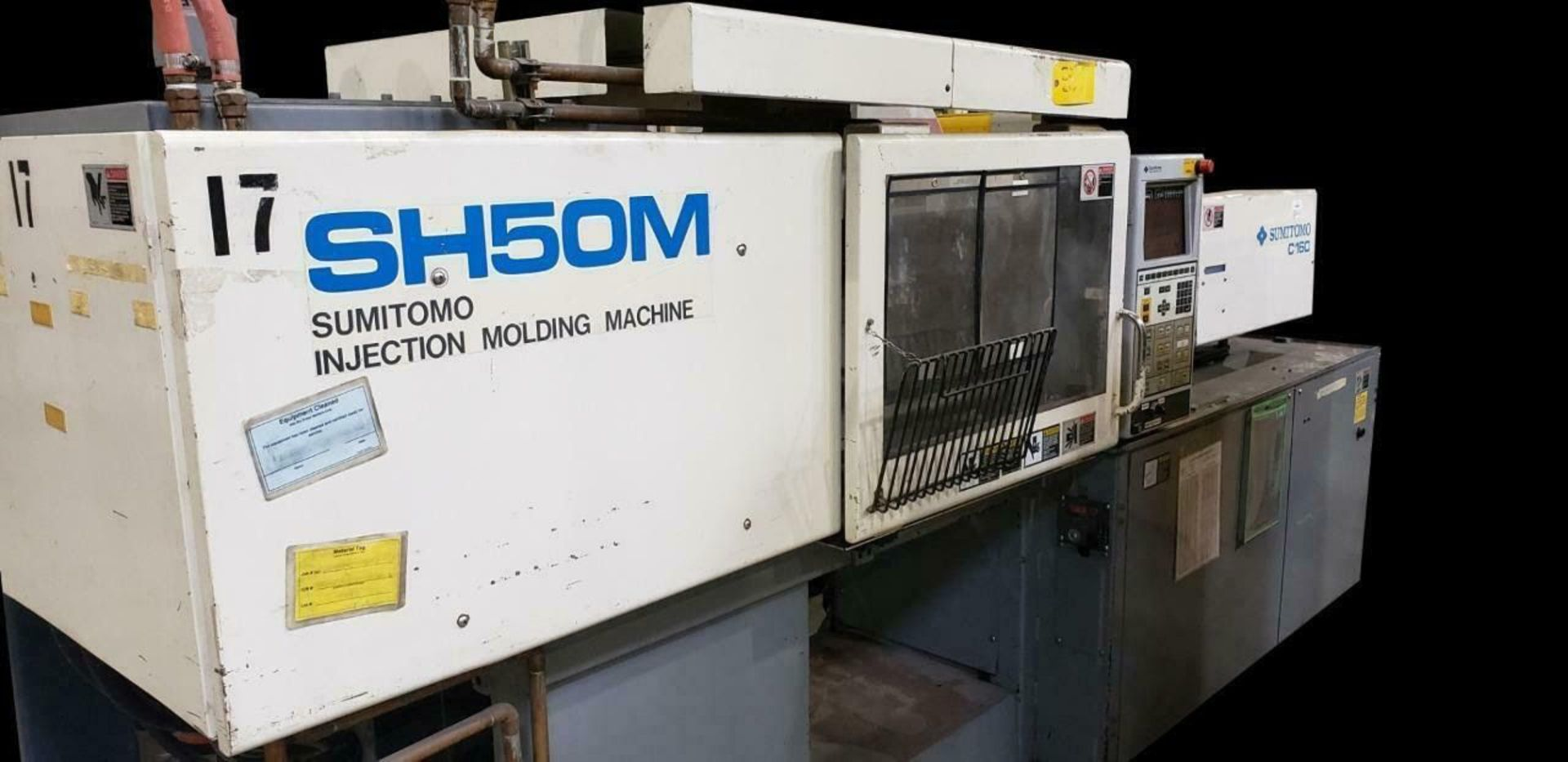Lot 303B - SUMITOMO SH50M 50 TON INJECTION MOLDING MACHINE (MACHINE LOCATED AT DIFFERENT LOCATION) SHOT SIZE: