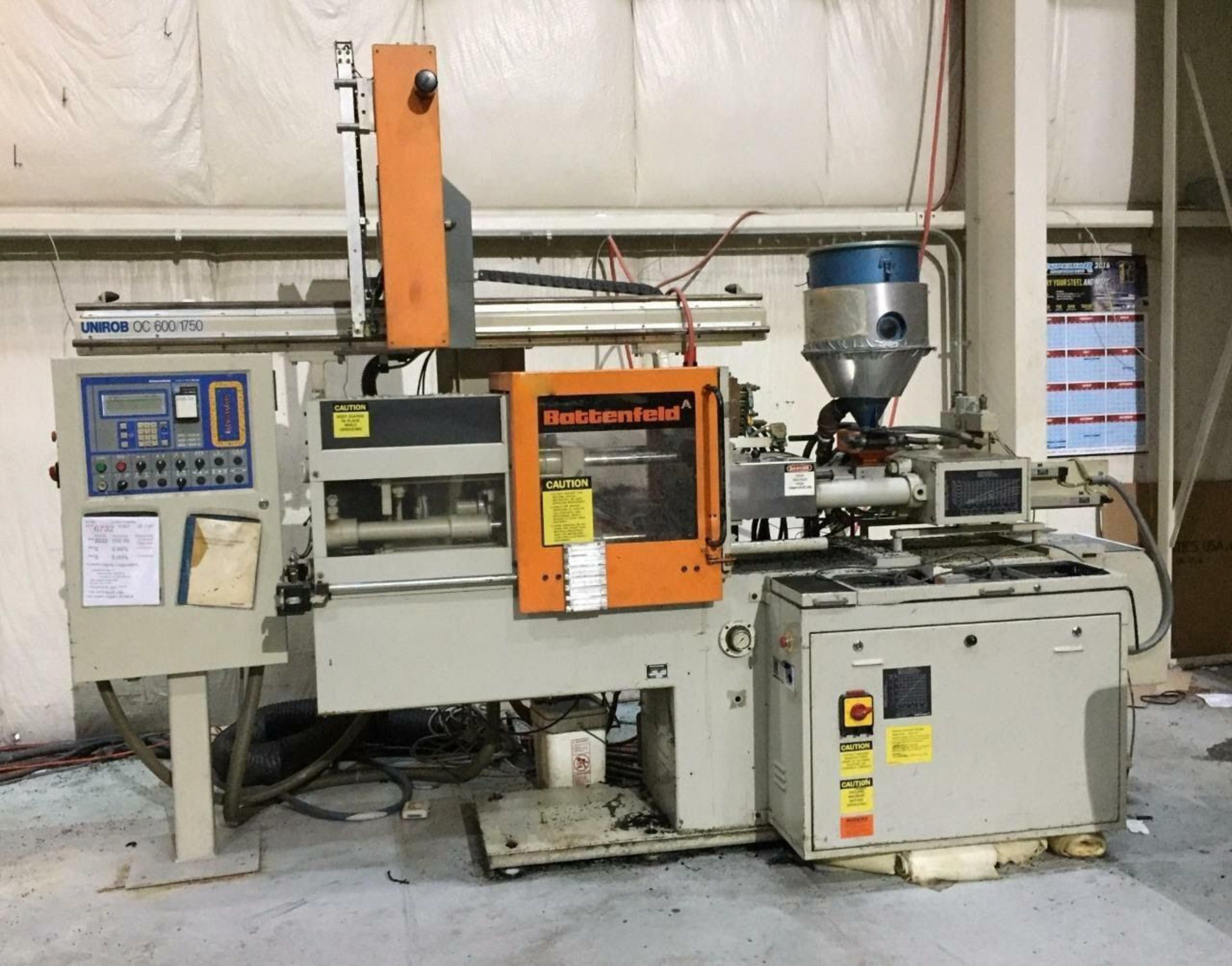 Lot 303E - (1987) BATTENFELD 22 TON INJECTION MOLDING MACHINE (MACHINE LOCATED AT DIFFERENT LOCATION) OC, 600/