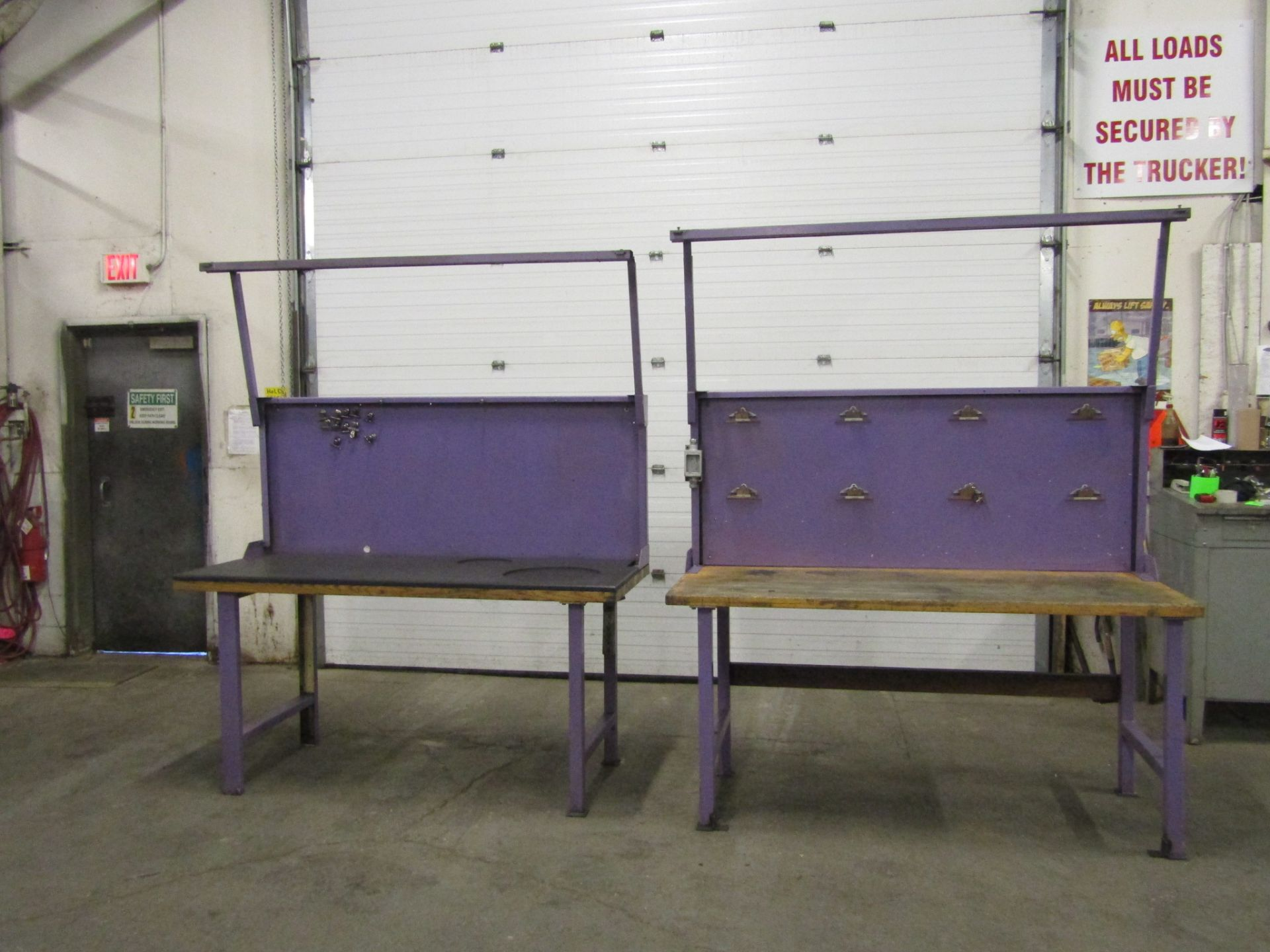 Lot 289 - Lot of 2 work tables