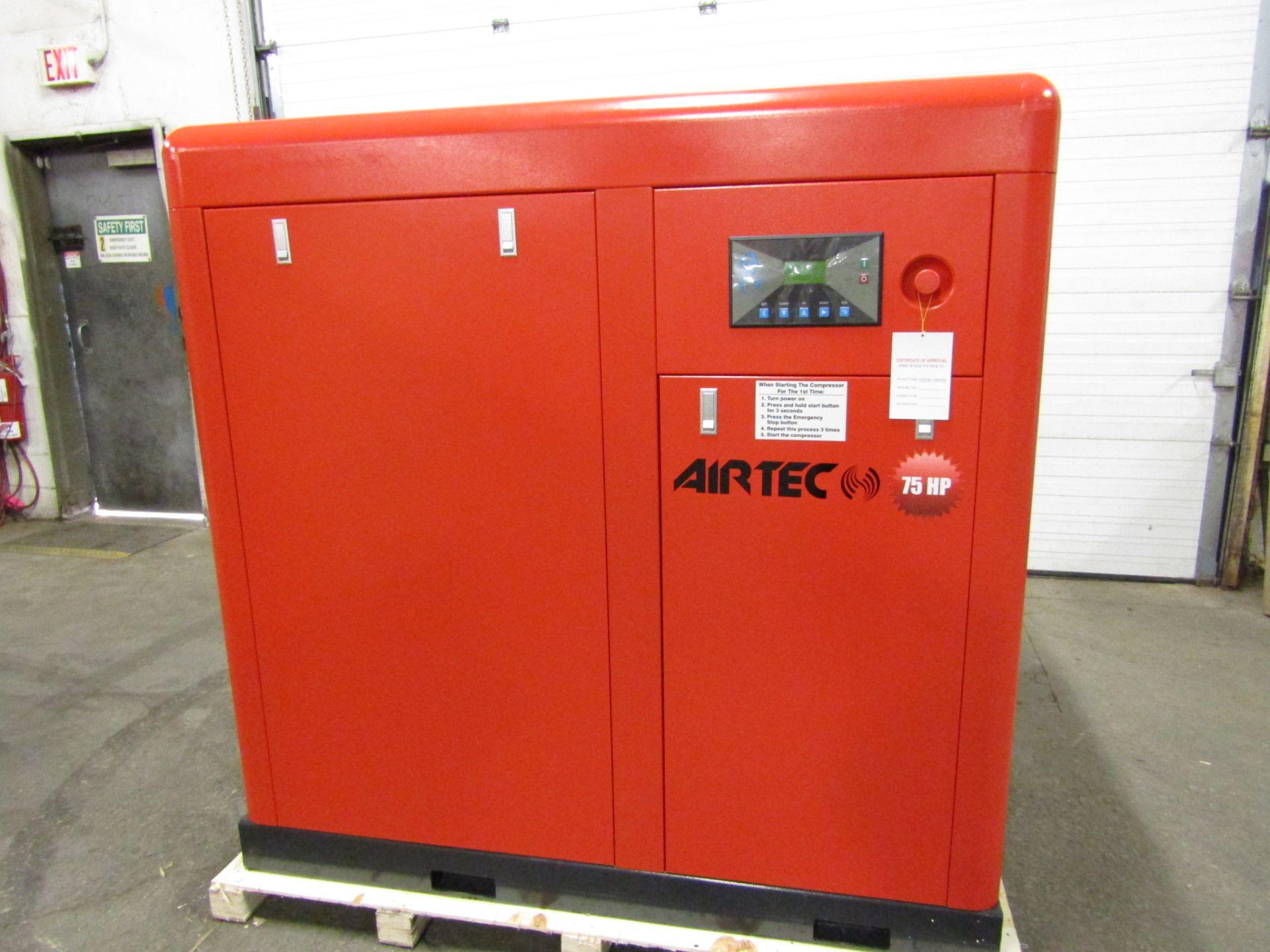 Lot 259 - Airtec 75HP Rotary Screw Air Compressor - MINT UNUSED COMPRESSOR
